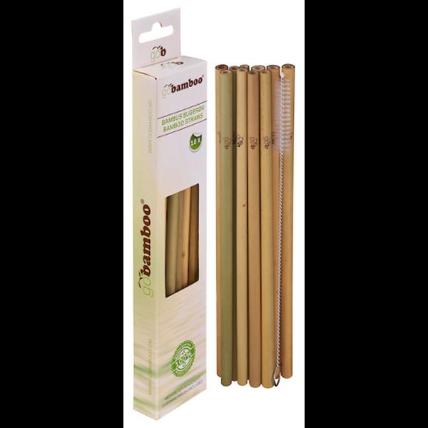 Bambus Sugerør 10 PK