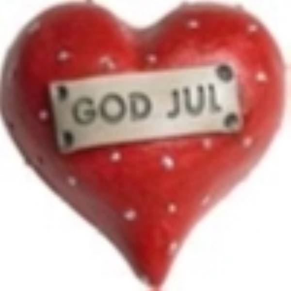 Hjärta God Jul L.5cm