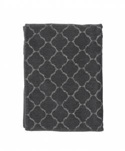 Bilde av Hjördis warm grey, woven cotton chenille blanket
